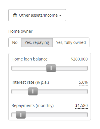 home loan feature setting